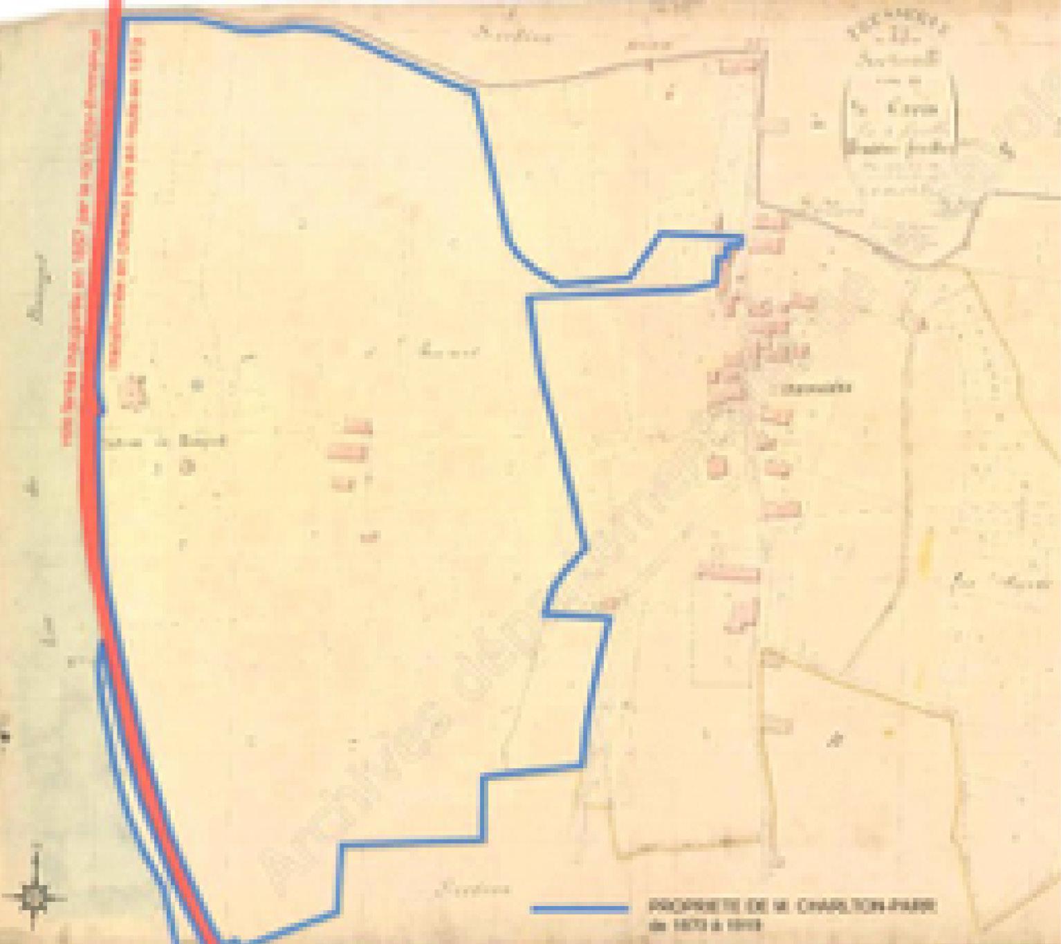 Ancienne carte du domaine du Château