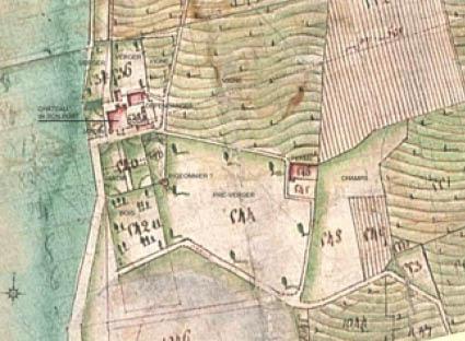 Emplacement du Château de Bonport à Tresserve
